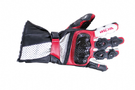 Richa Ravine Leather Summer Gloves Red